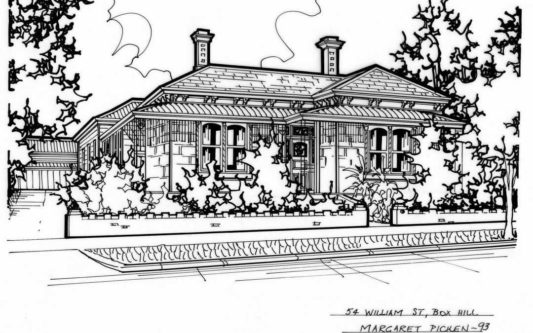 Sketches of Box Hill and Burwood Properties